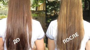Две девушки с длинными волосами