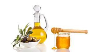 Мед и масло для волос