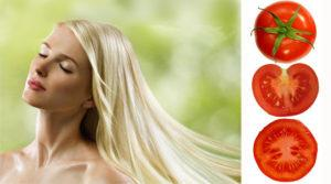 Блондинка и помидоры