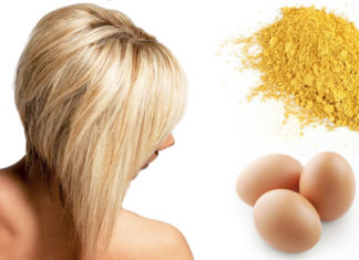 Горчица и яйцо для волос