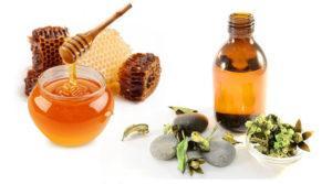 Масло жожоба и мед