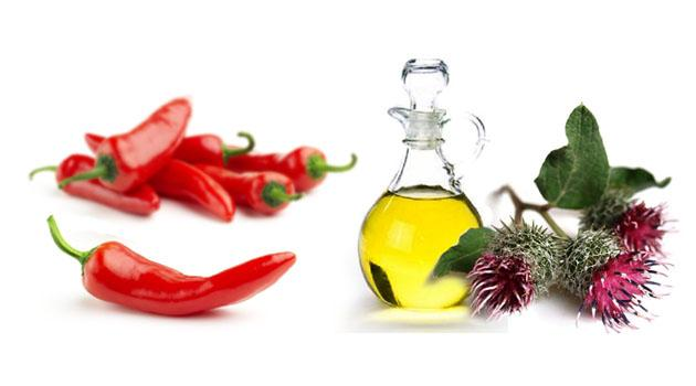 Репейное масло и перец