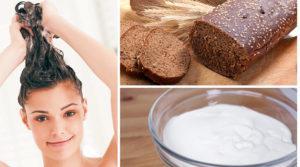 Маска для сухих волос с хлебом