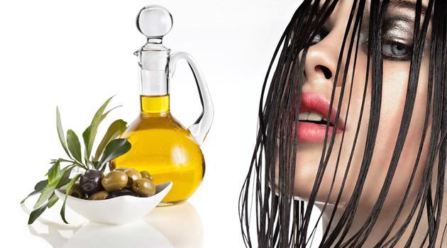 Растительное масло на волосах