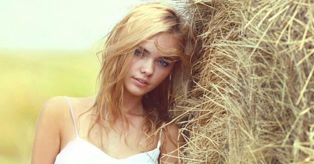 Волосы солома