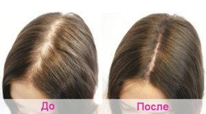 Результат применения горчицы для волос
