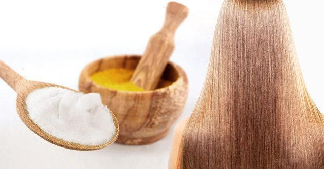 Горчица и сахар для волос