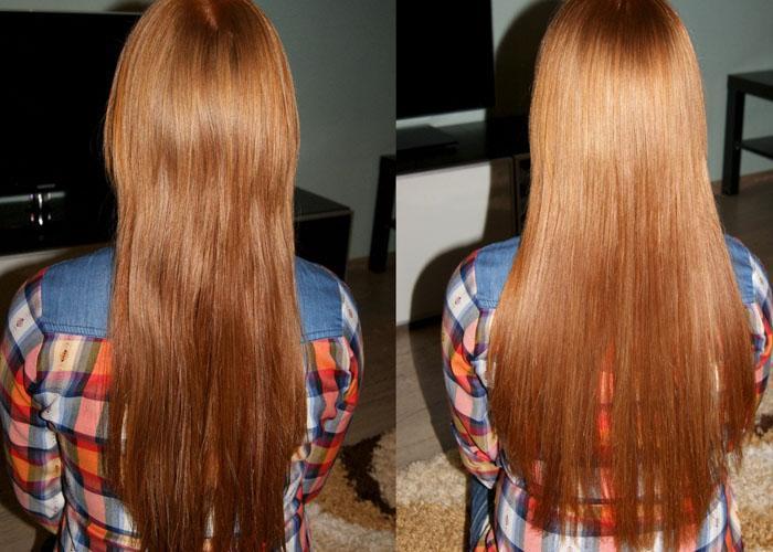 Использование мумия до и после светлые волосы